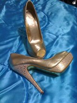 REDUCED!Gorgeous Mariah Carey gold & diamonds pumps,7.5 in Leesville, Louisiana